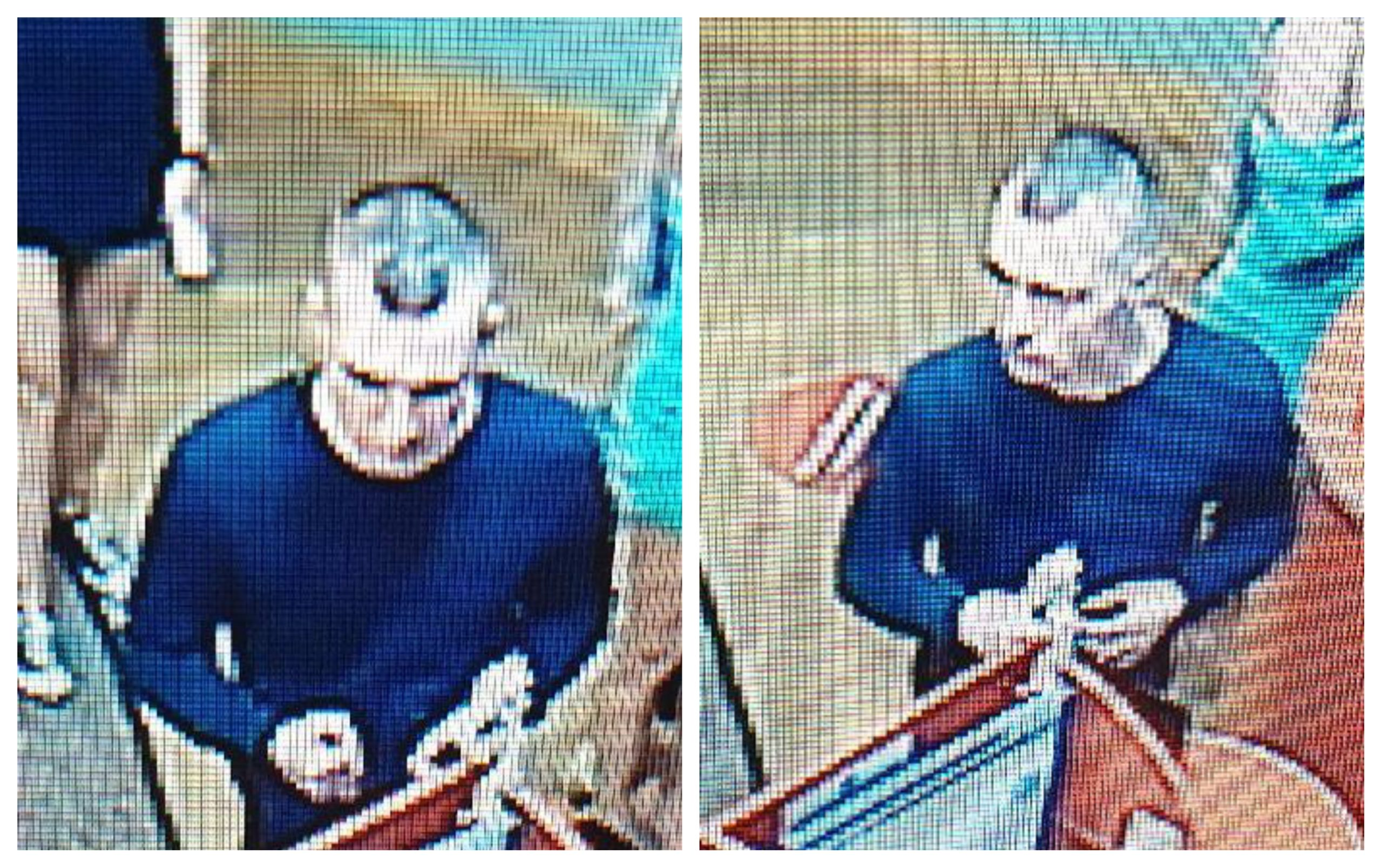 The CCTV images of the man police wish to speak to.