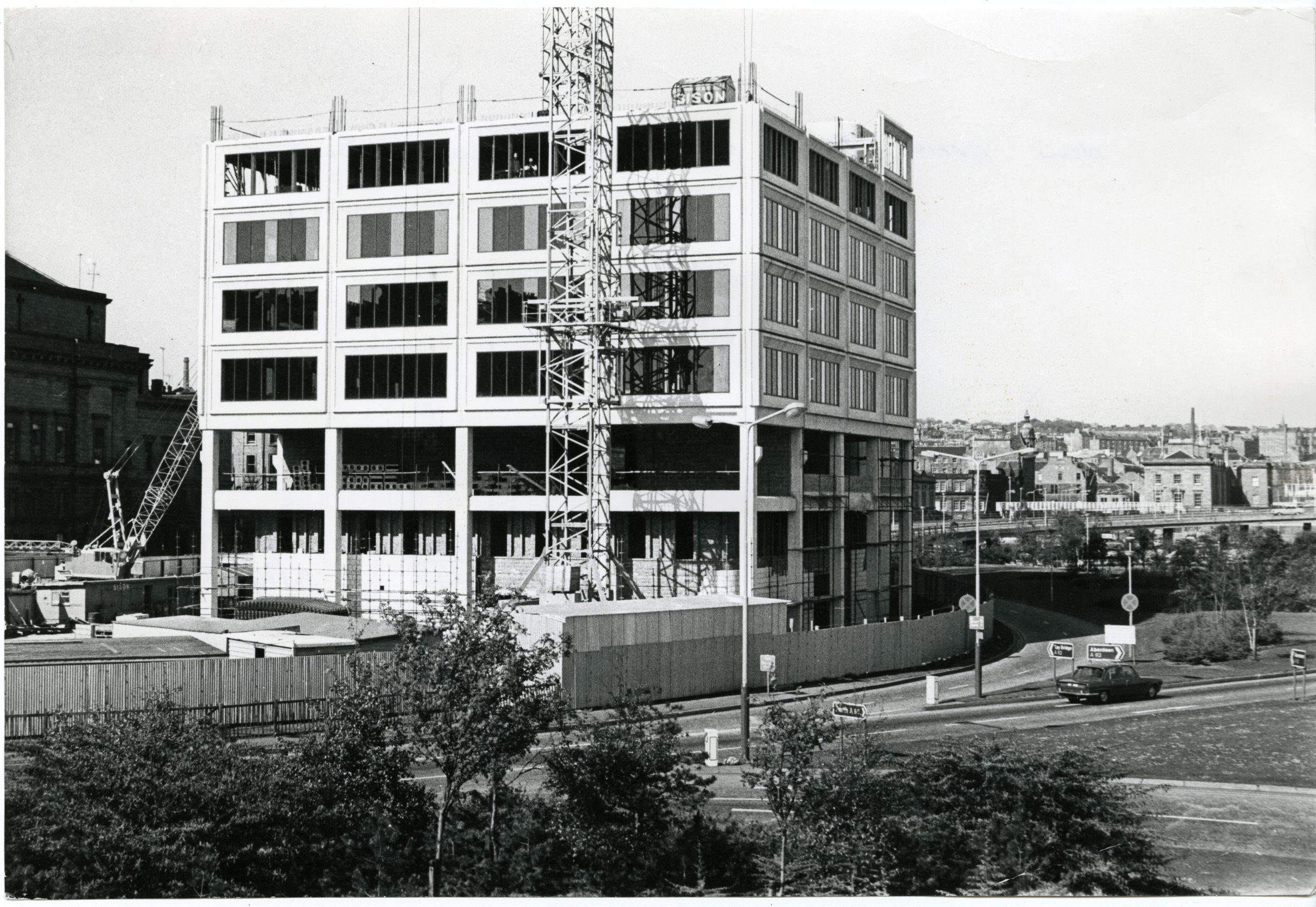 Tayside House being constructed.