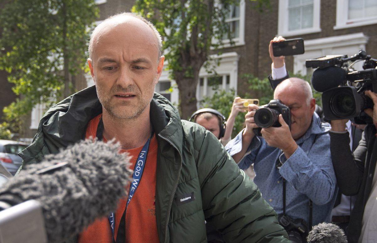 Prime Minister Boris Johnson's senior aid Dominic Cummings leaves his north London home.