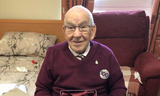Ken Gibb celebrating his 100th birthday.