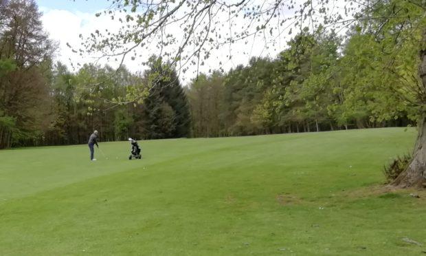 One weekend golfer at Camperdown.