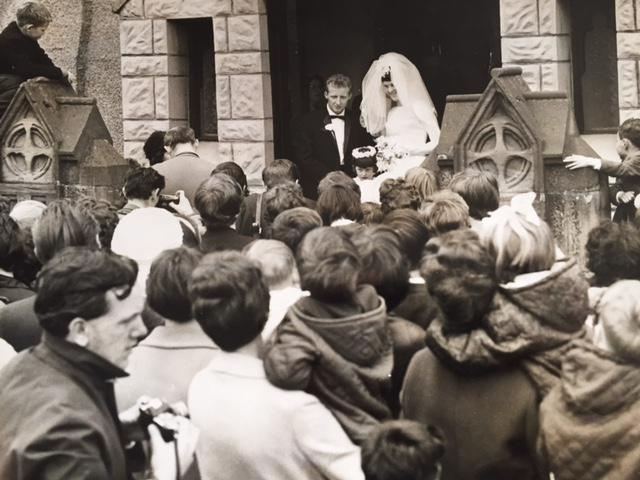 Jimmy and Agnes on their wedding day in 1966