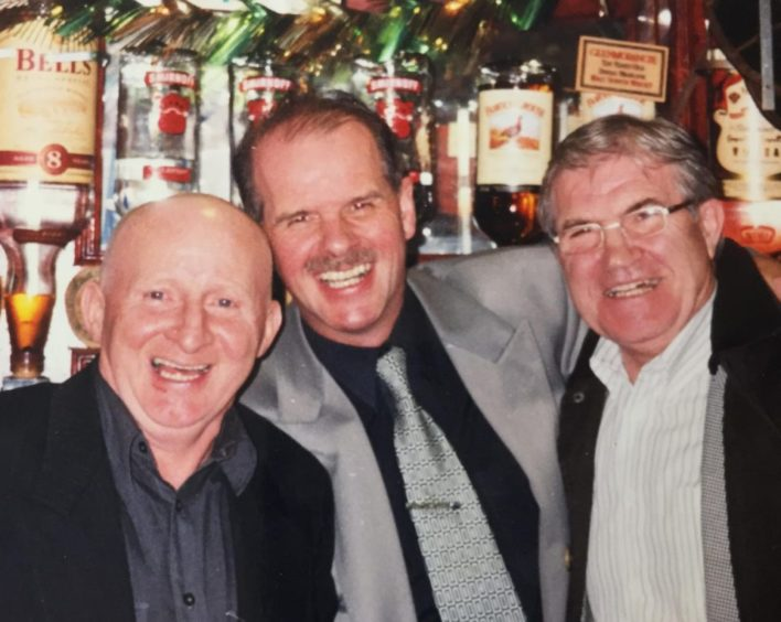 Jimmy with best pal Ian Henderson and fellow Celtic great Bertie Auld