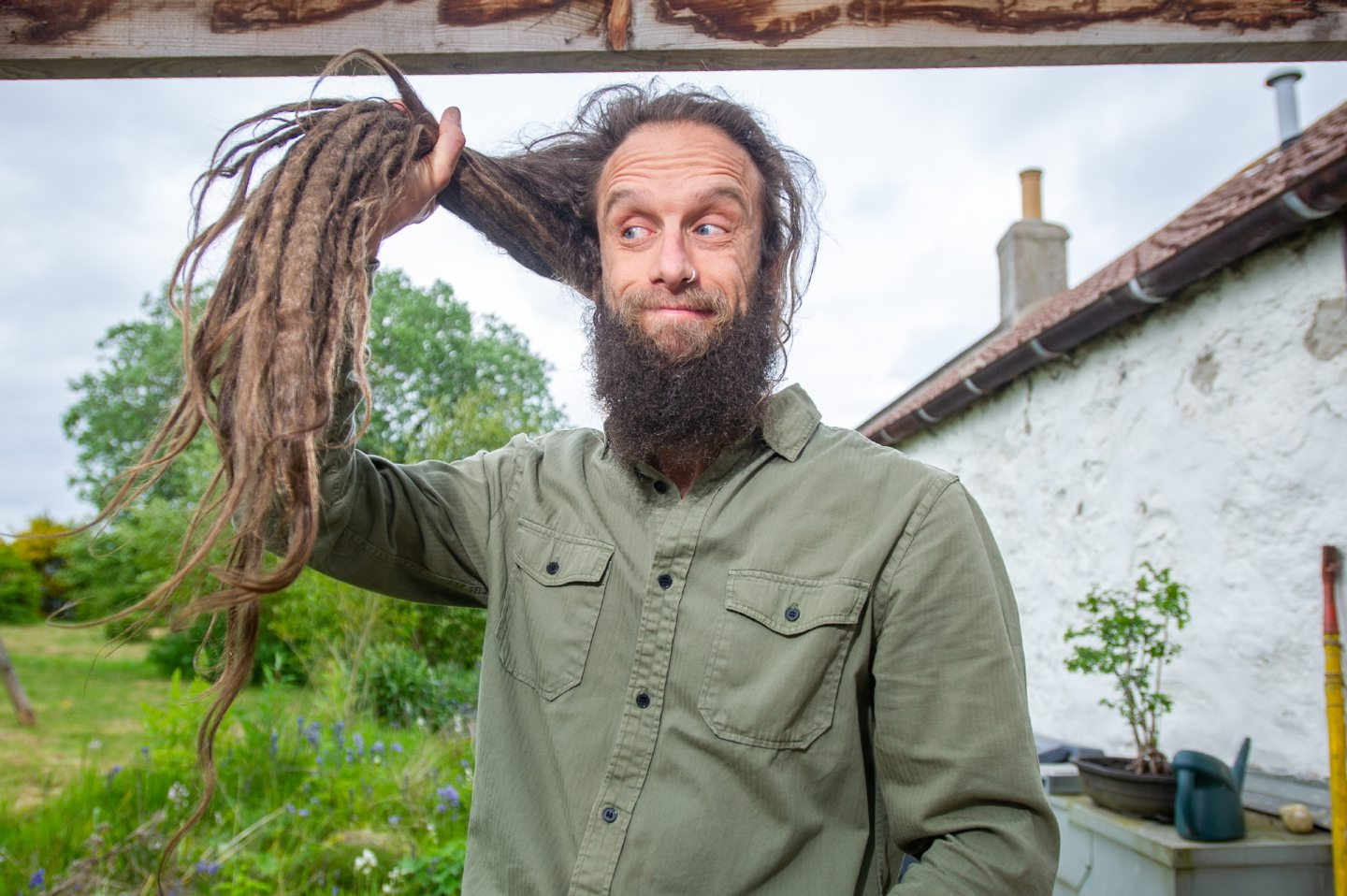 Owen Pilgrim is cutting off his dreadlocks for charity.