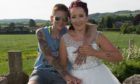 Kirsty and Nadia on their wedding day