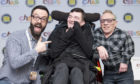CBBC's Raven star James Mackenzie and Doctor Who icon Jimmy Vee with Adam Meldrum (middle), who receives care from Rachel House.