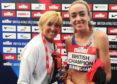 Liz and Eilish McColgan at the 2019 British Championships.