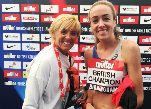 Eilish McColgan with her mum Liz.
