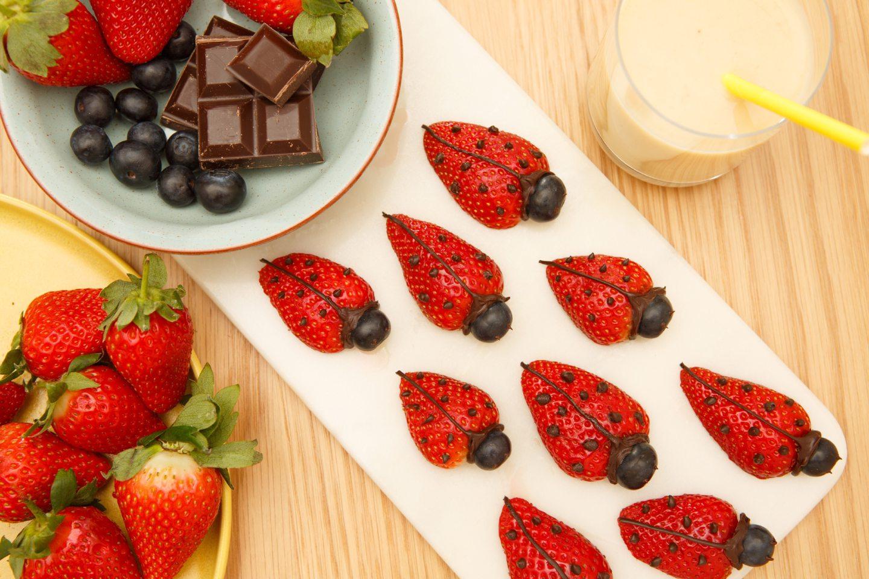 Strawberry ladybirds.