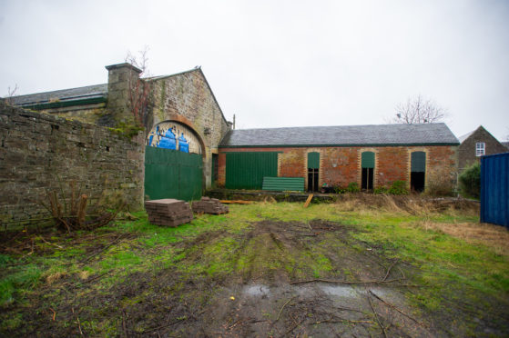 The disused railway station buildings in Newtyle in January 2020.