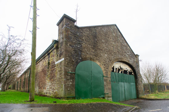 The old Newtyle station buildings.