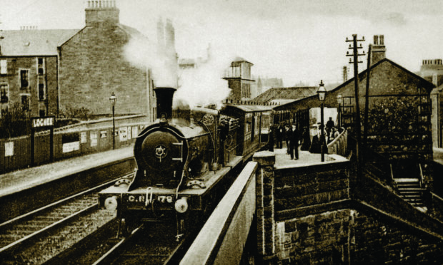 Lochee station - which formed part of the Dundee and Newtyle Railway - in 1890.