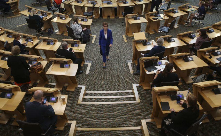 First Minister Nicola Sturgeon in Holyrood.