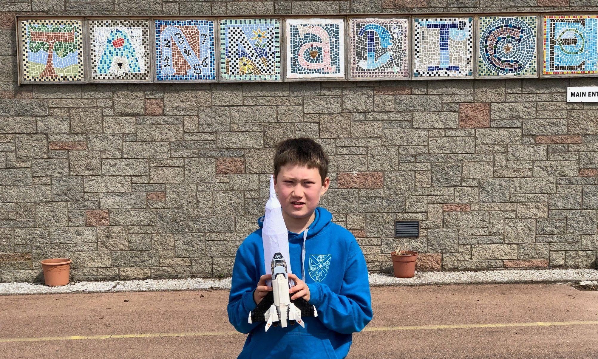 Ollie Hay of Tannadice Primary School.