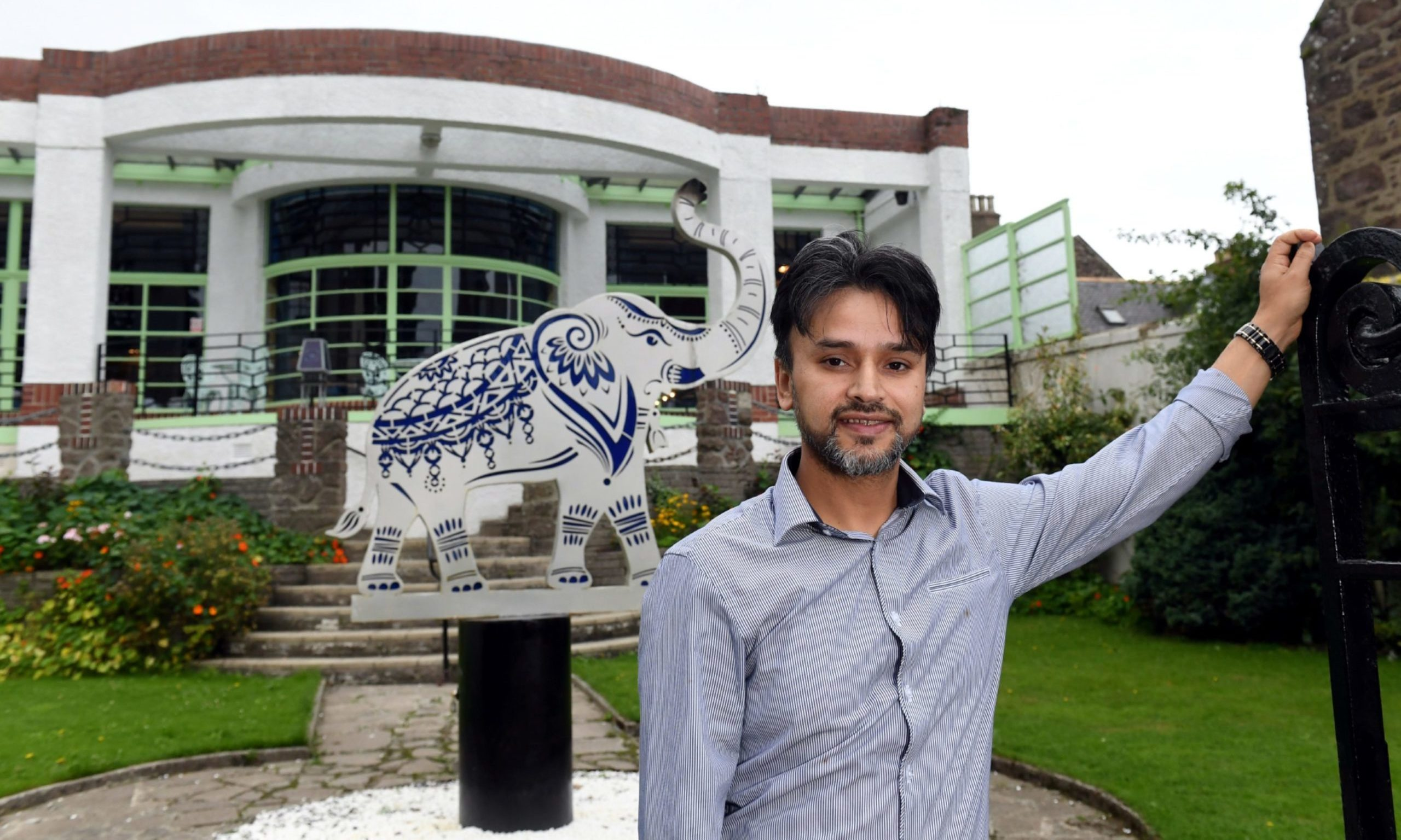 Raj Hamid, at his Carron to Mumbai restaurant in Stonehaven.