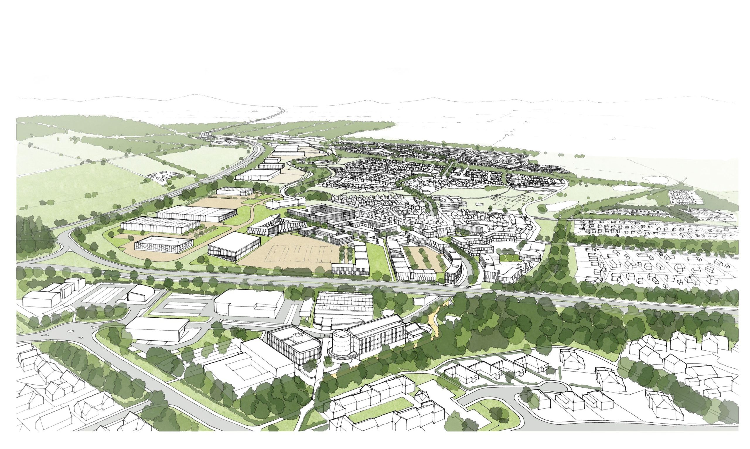 A birds-eye view of the new Perth West project