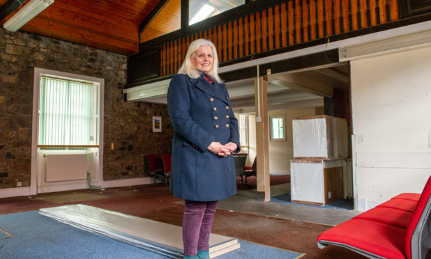 Dodie Piddock, chief executive of charity Starting Step at the old HMP Perth social club.