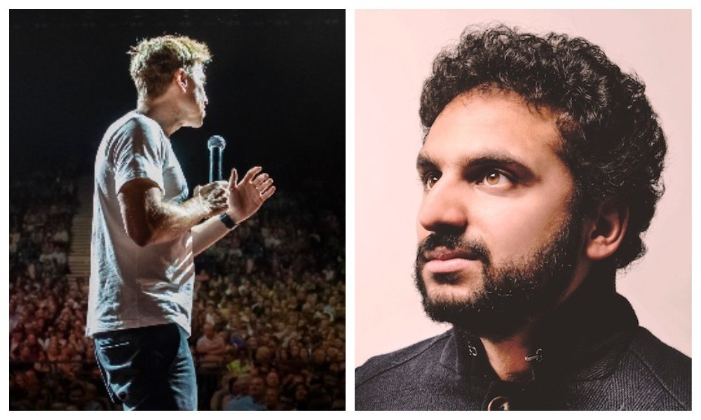 Russell Howard and Nish Kumar.