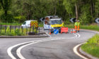 The road closure on the A85.