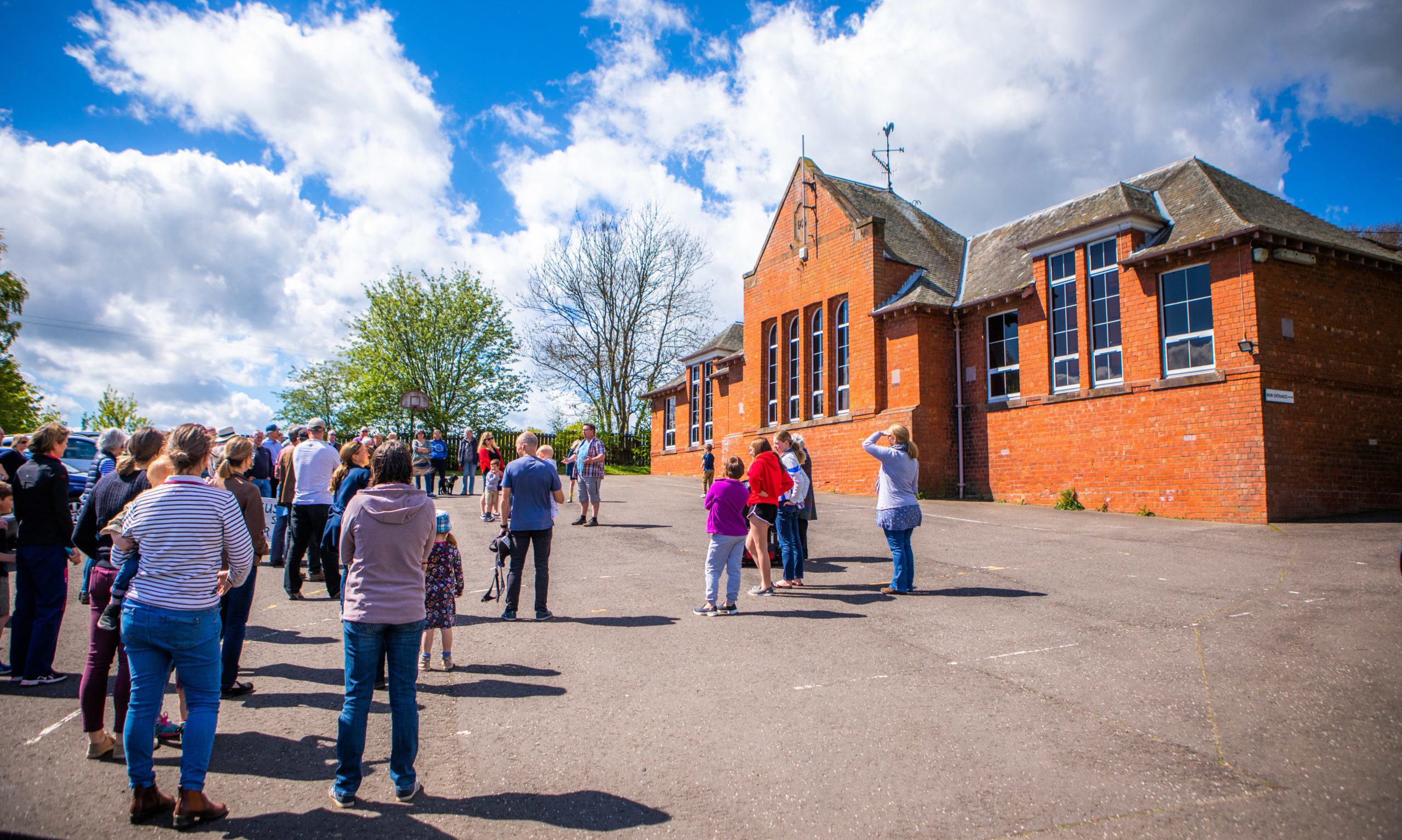 Abernyte Primary had been scheduled to close when this summer.