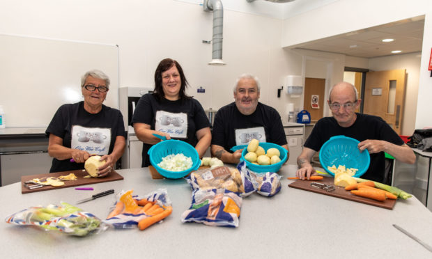 Linzi Forbes, second left, with volunteers from Oor Wee Cafe, Kelty.