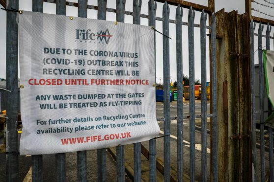 Glenrothes Recycling Centre is among the five in Fife to reopen on Monday.