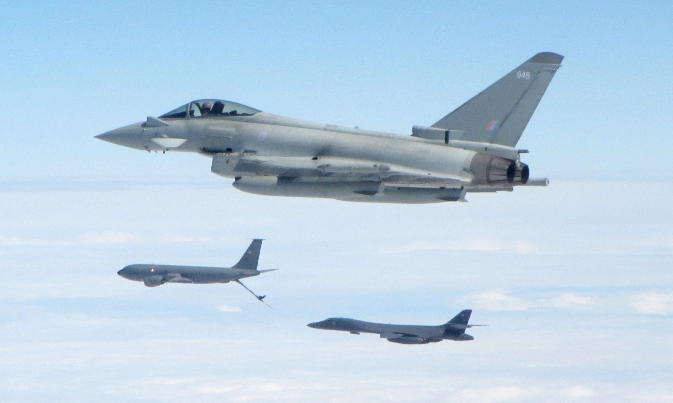 1 (F) Squadron Typhoons, based at RAF Lossiemouth on a previous mission