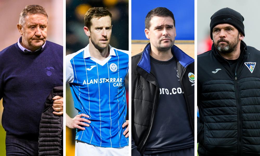 John Robertson, Steven MacLean, David Healy and Callum Davidson