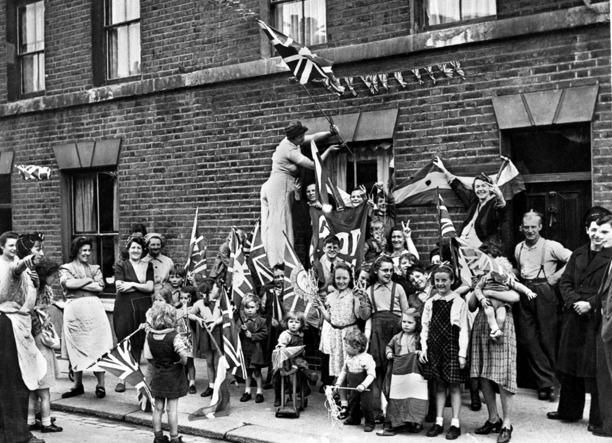 VE day celebrations in London 1945.