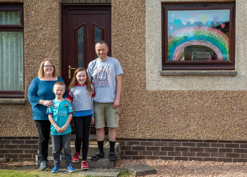 Veronica and Ewan Macleod with Eilidh and Cameron.