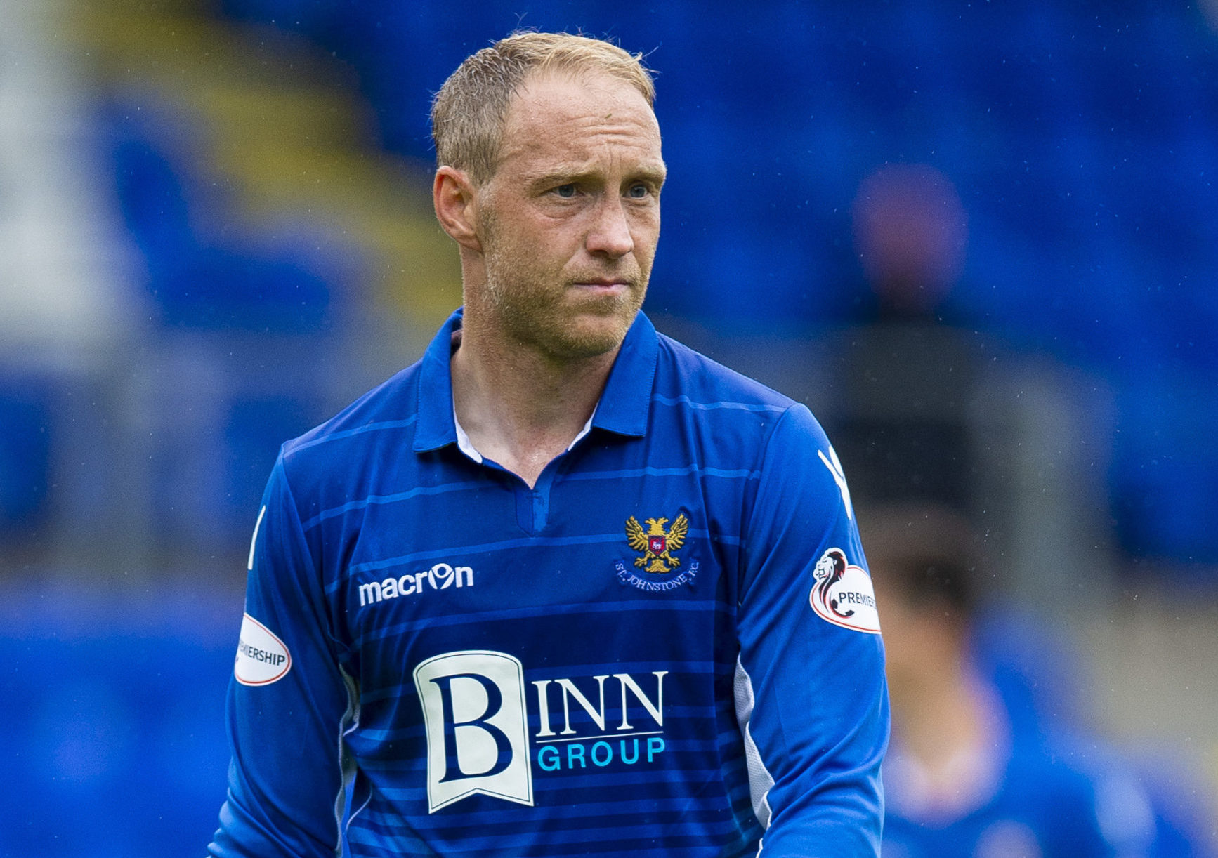 Steven Anderson during his last game for St Johnstone.