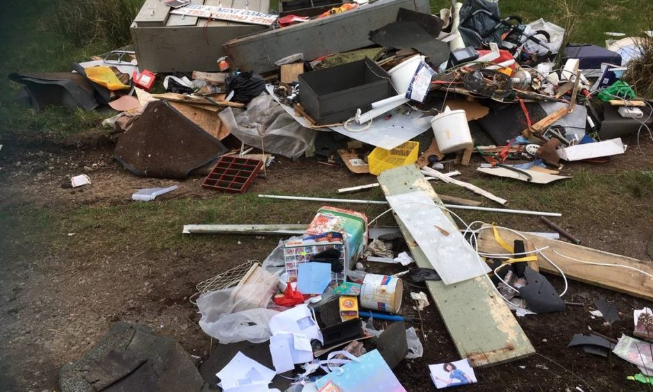 Fly-tipping has risen in many places during lockdown.
