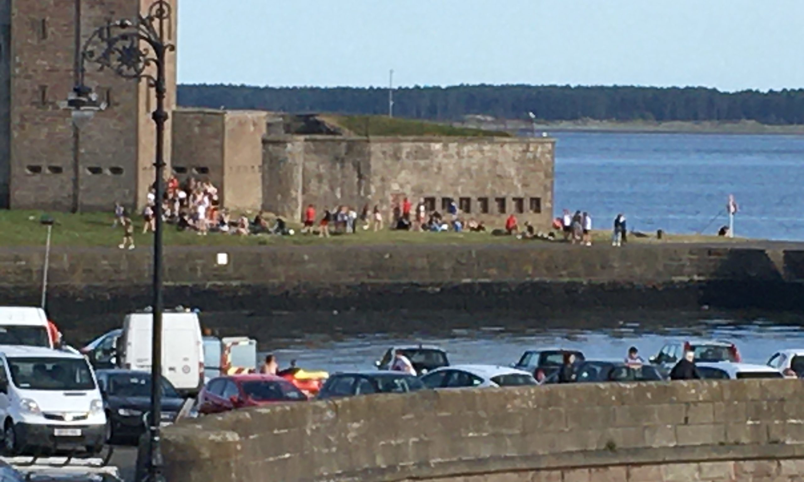 Broughty Ferry was just one of the places that attracted crowds.