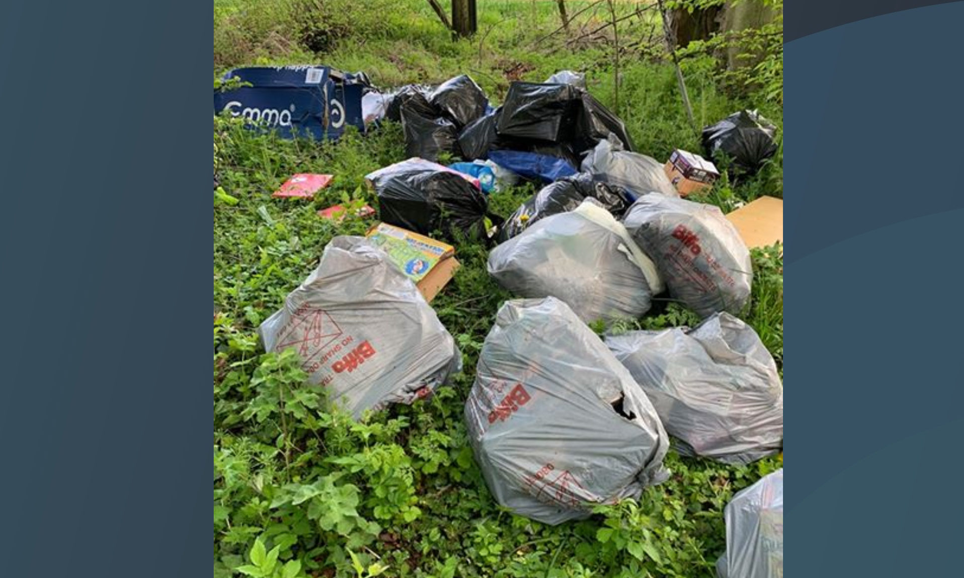 The waste that had been traced to a Dundee residence due to details of a name and address found among the waste.