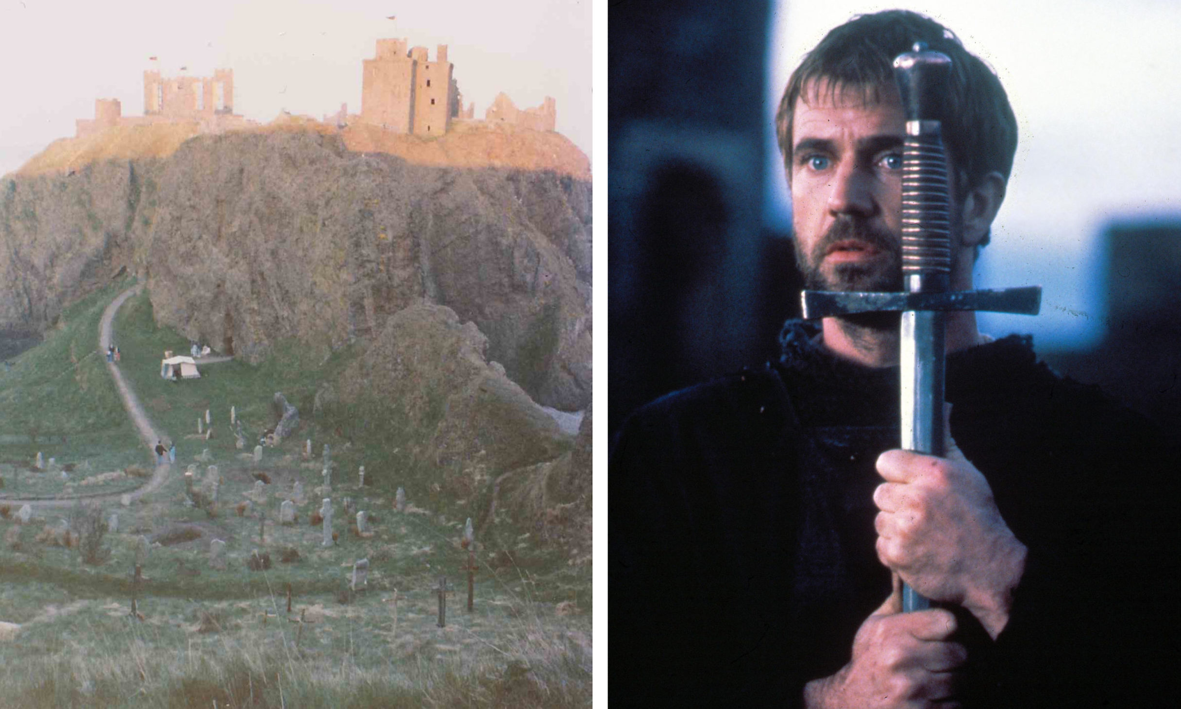 Mel Gibson starred in Hamlet, part of which was filmed at Dunnottar Castle.