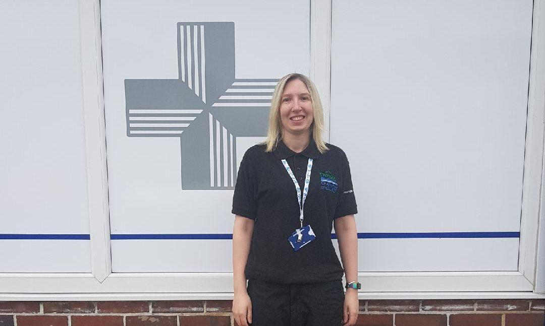 Katie Bruce has been redeployed to deliver medicine.