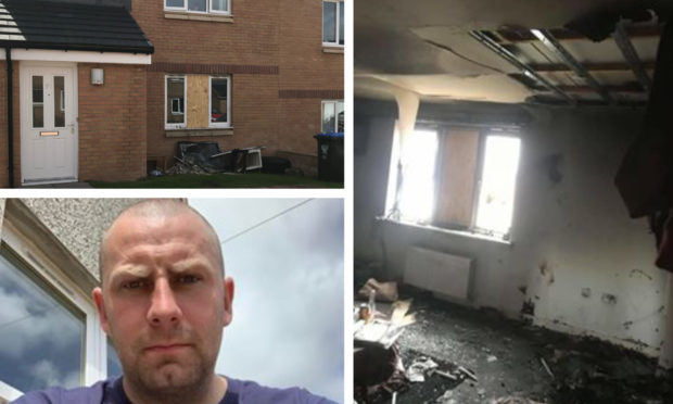 Scott Robertson (pictured bottom left) rushed to the Kinross flat fire.