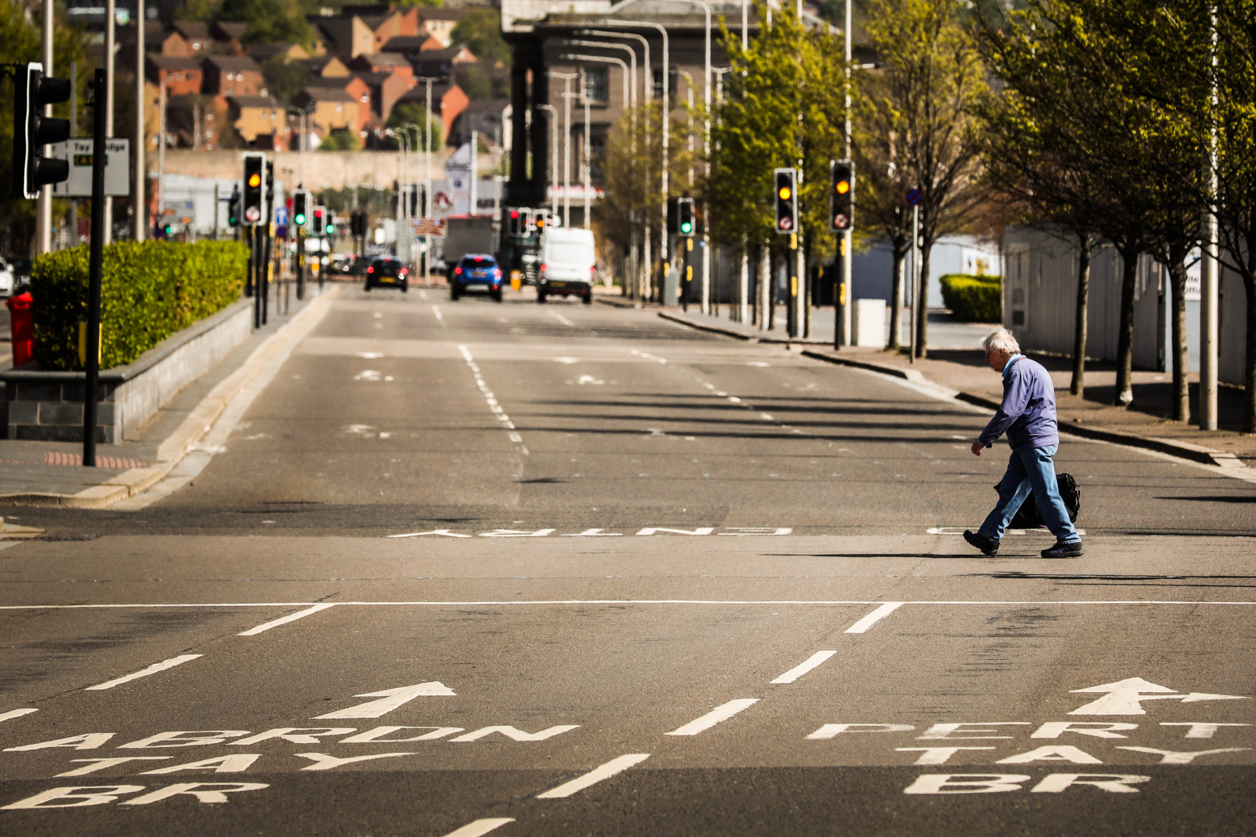 The quiet streets of Dundee during lockdown.