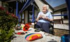 Nettie Cameron, 86, who came up with the idea with her stone that she painted and some others.