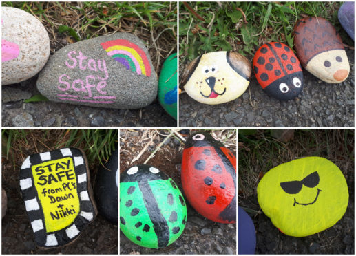 Some of the stones from the Monifieth caterpillar