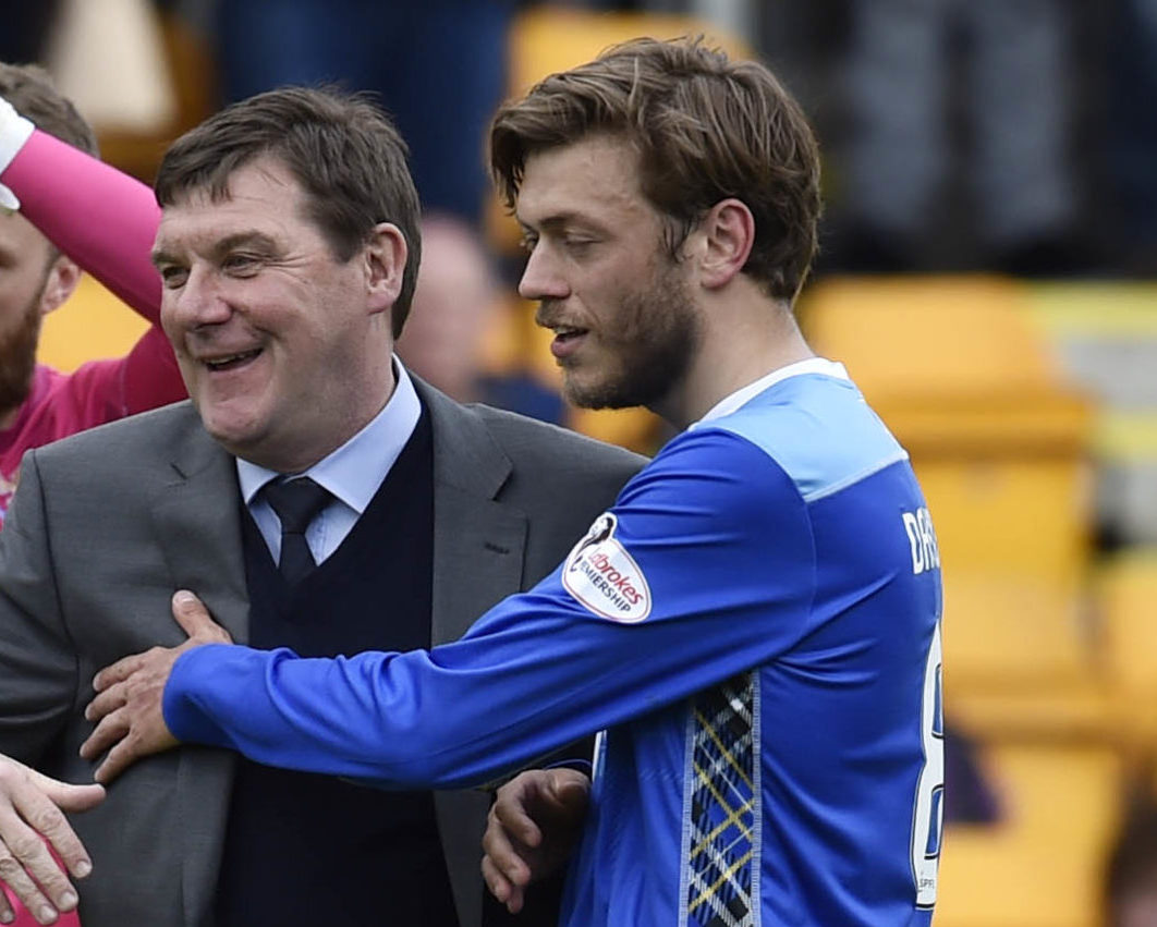 Davidson admits working under a new manager will be strange after so many years with Tommy Wright (left).