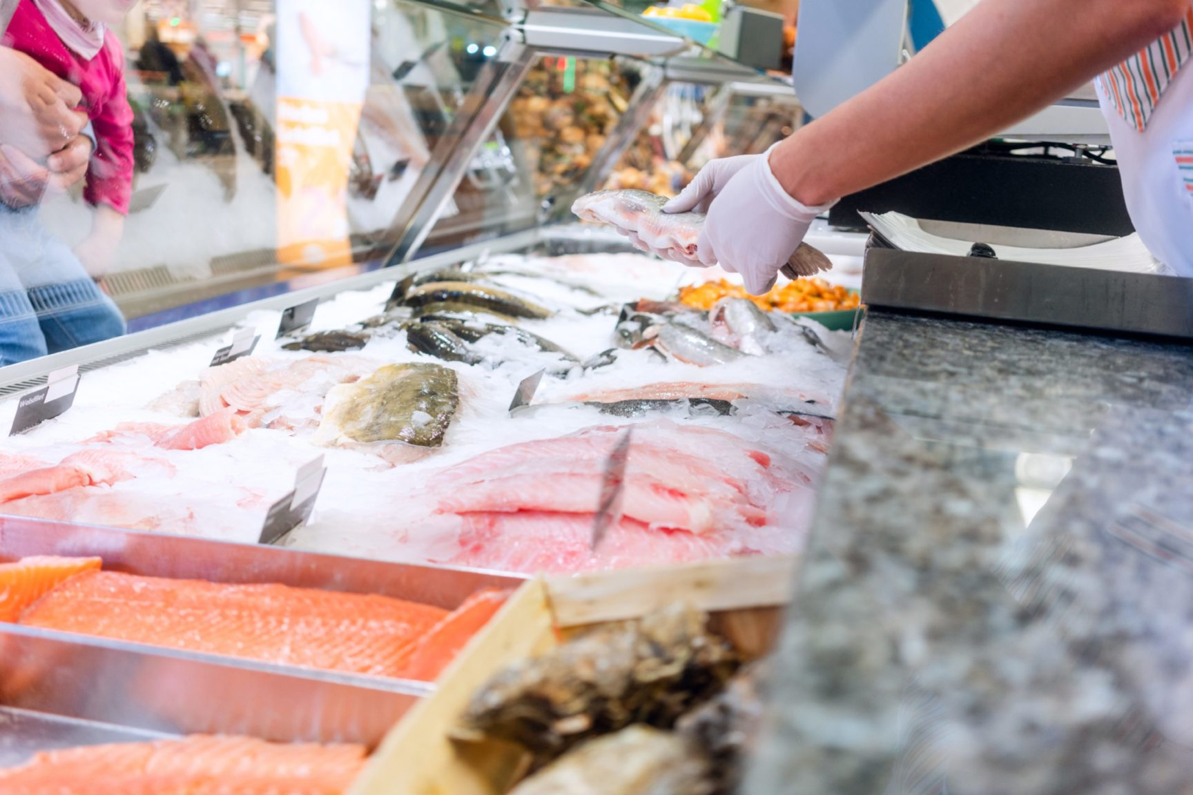 Fish counters in all but one of the UK's supermarket chains remain closed, but demand for seafood has increased.