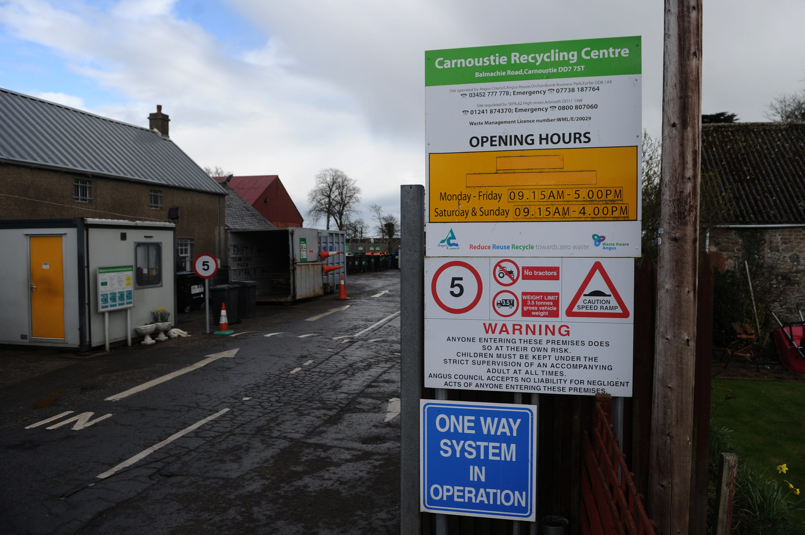 Carnoustie recycling centre will be among those re-opening on July 1.