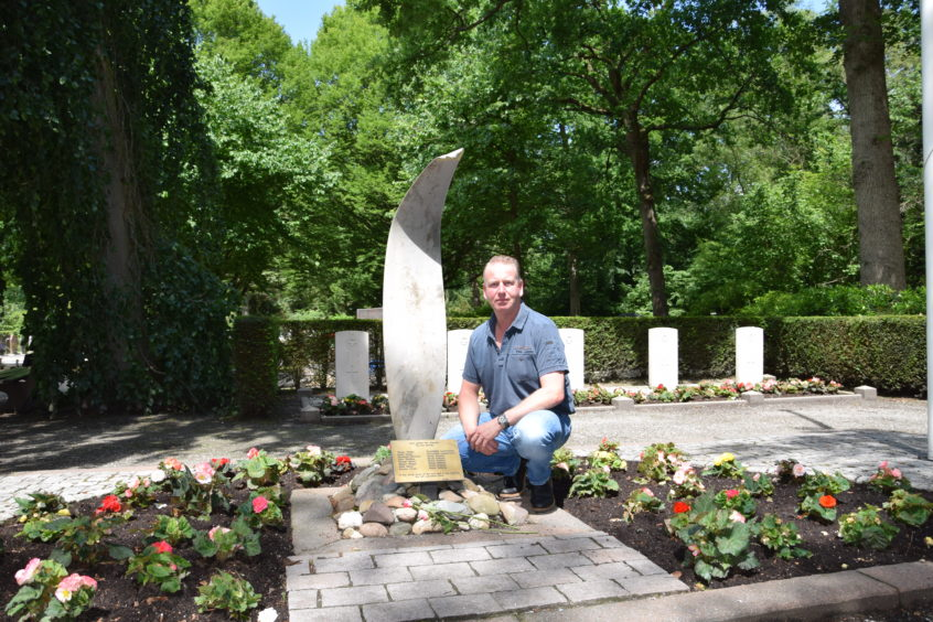 Mr Scheer at the site of the memorial.