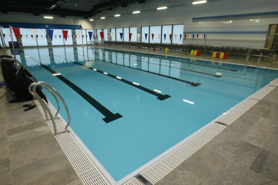 Brechin community campus swimming pool.