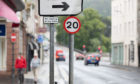 Newly installed 20mph signs in Perth city centre
