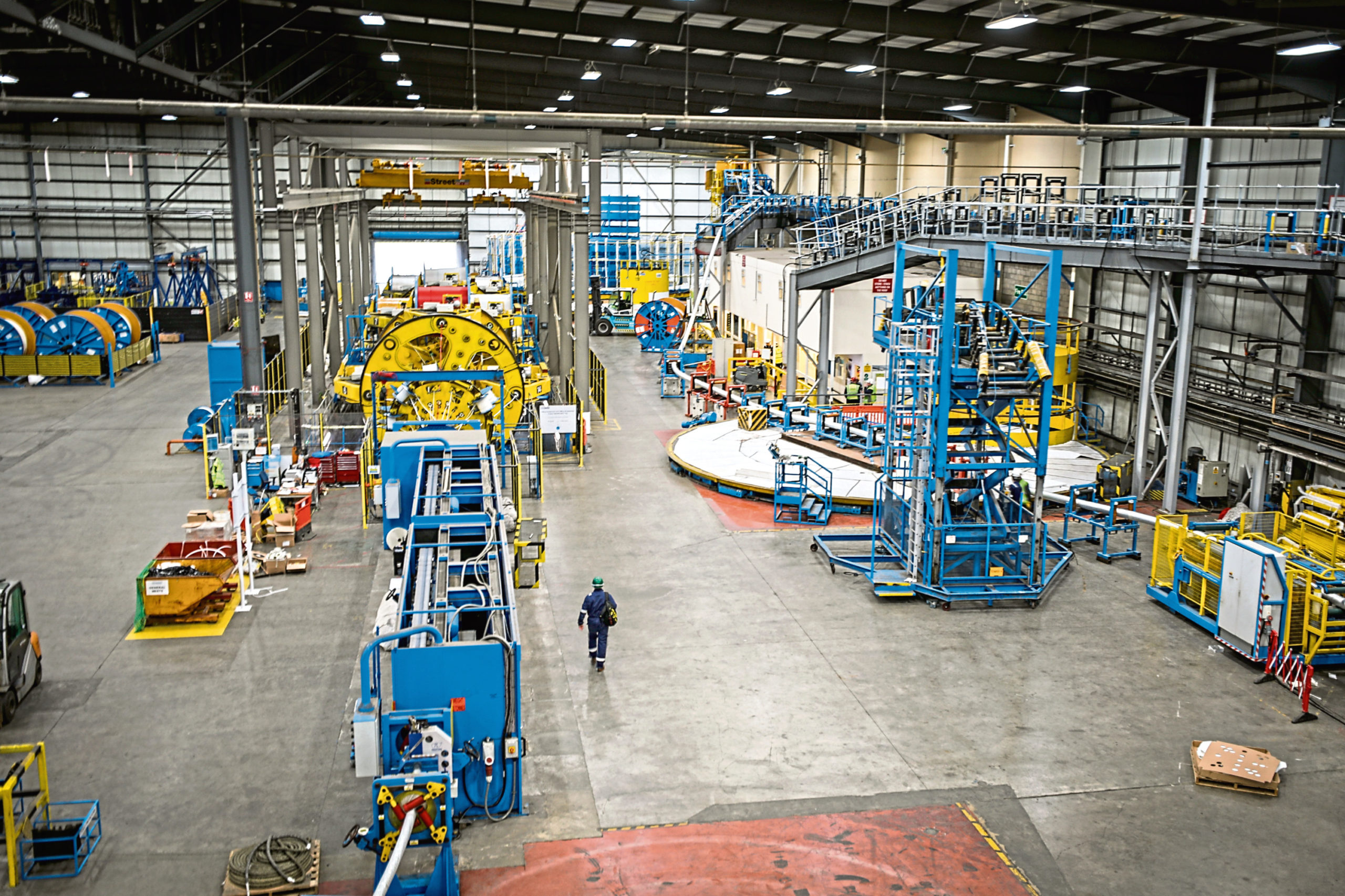An overview of Oceaneerings facility at the Port of Rosyth.