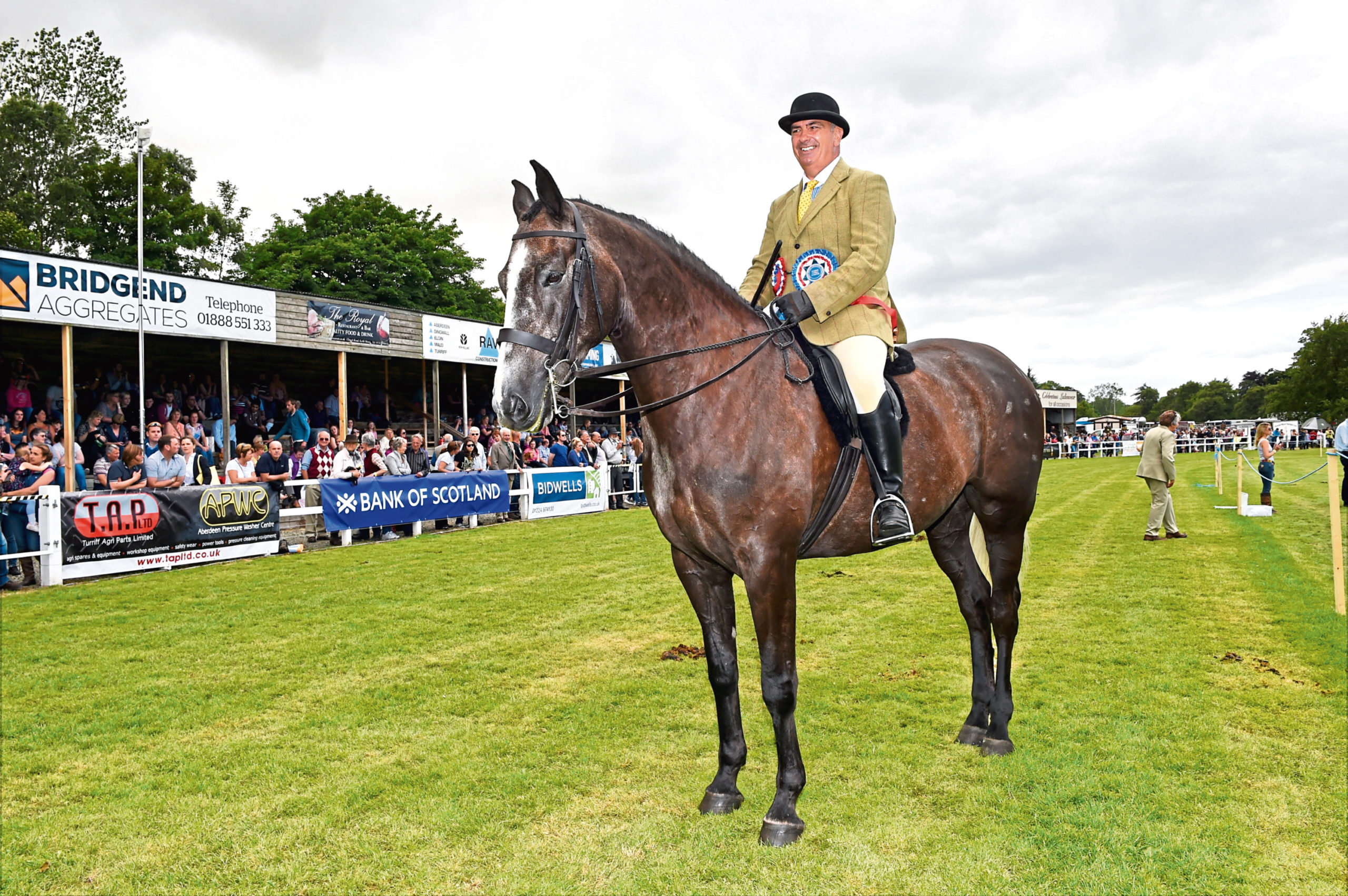 Reserve horse champion (ridden class) James Munro from Wick on Parkmore Rowan at the Turriff Show.  Picture by KEVIN EMSLIE