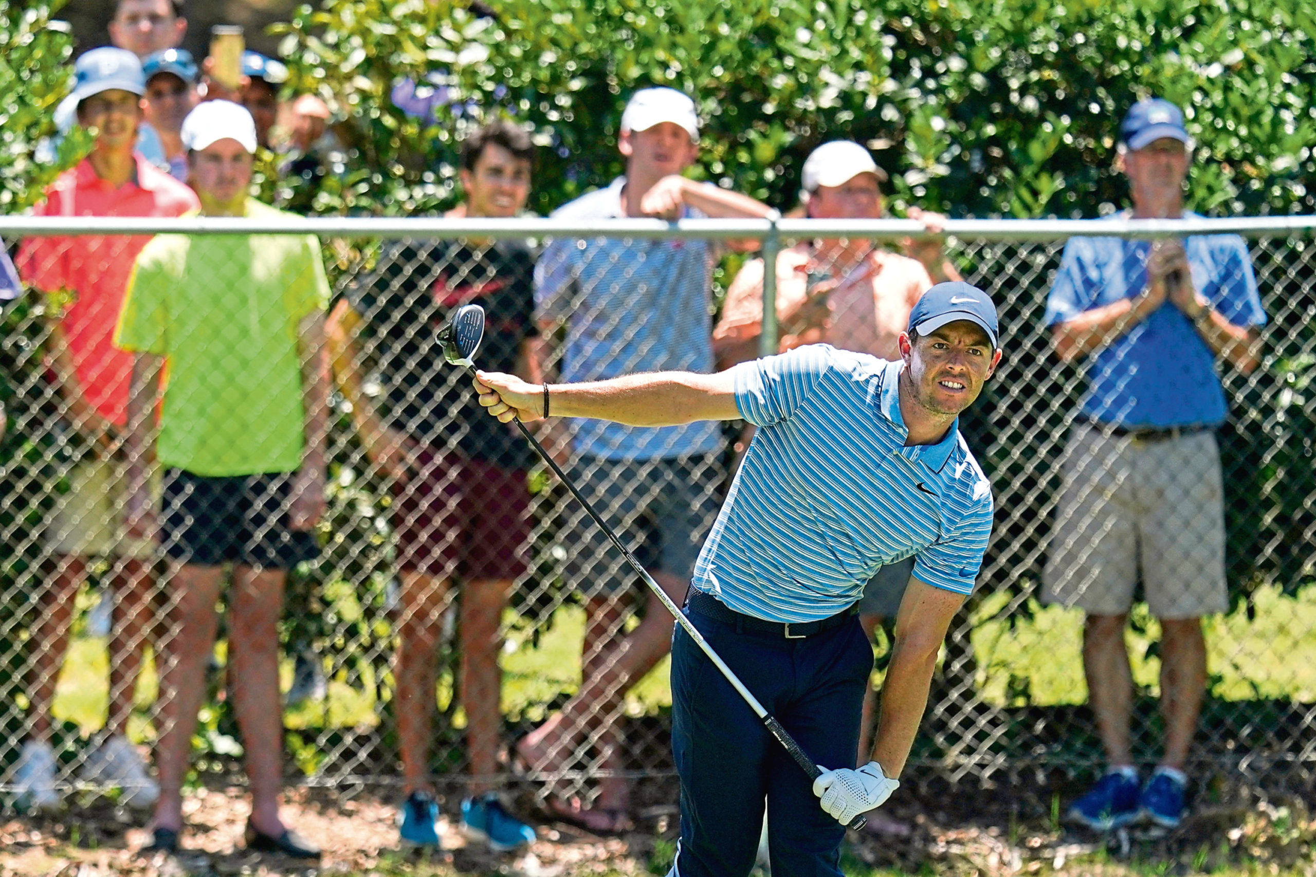 Fans weren't allowed into Colonial for the PGA Tour's restart, but watched from afar anyway.