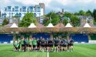 21/05/19 GLASGOW WARRIORS TRAINING SCOTSTOUN STADIUM - GLASGOW The Glasgow Warriors team huddle